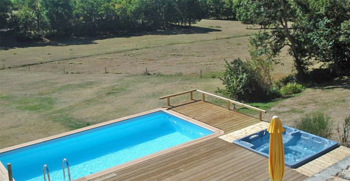 The Maison has its own pool and jacuzzi with great views