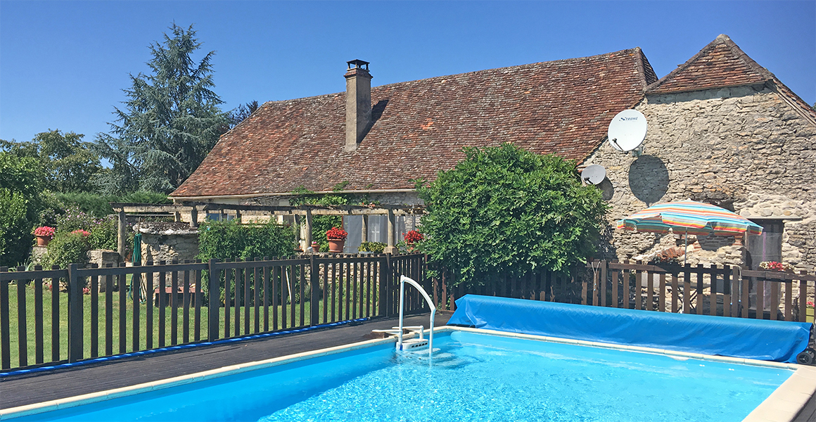 La Forge private heated pool and house