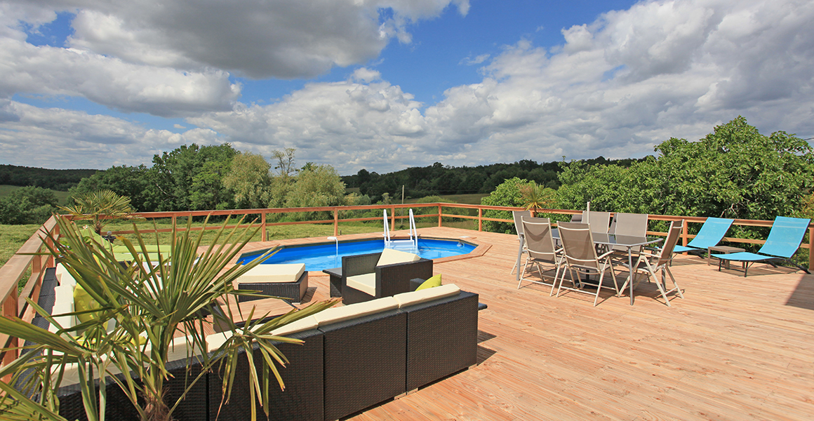 Fabulous views from the large decked terrace