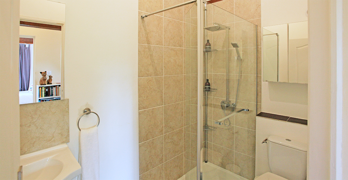 Double and twin bedrooms share a shower room, there's a wet room off the sitting room too