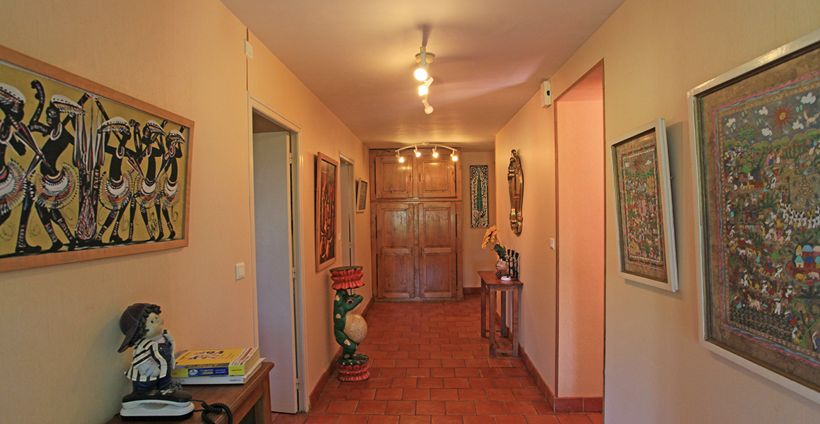 Entrance hall leads to the ground floor shower room and separate WC