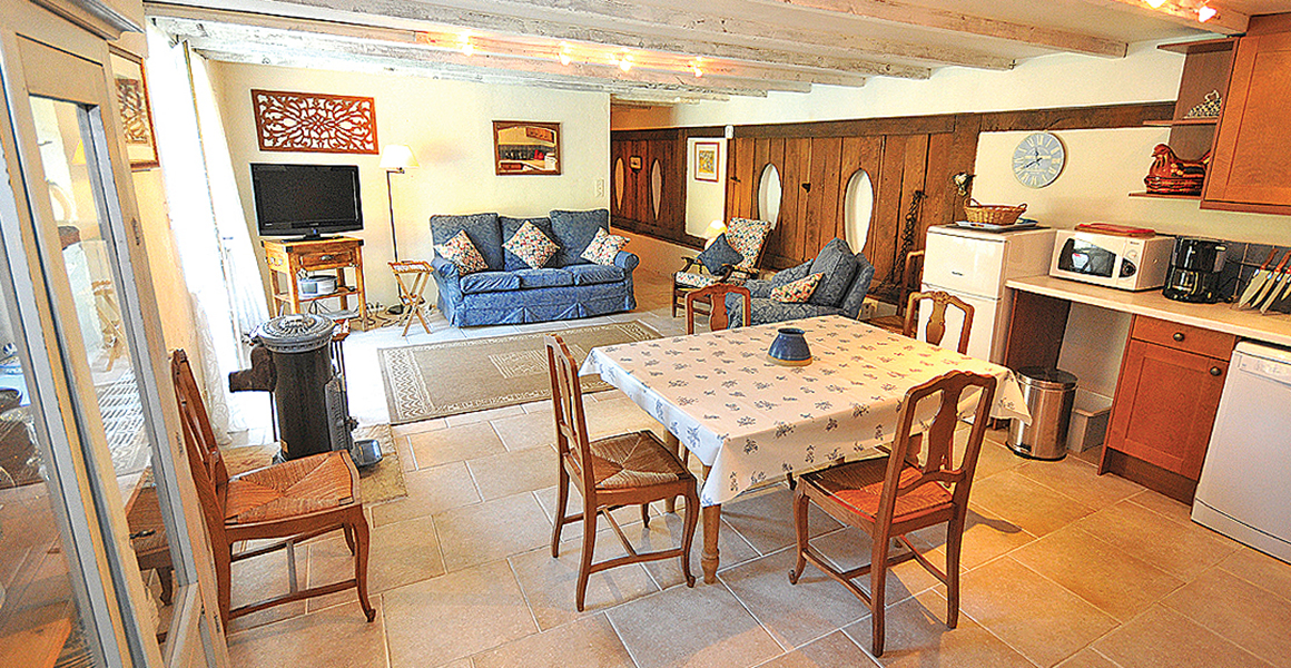 Cottage kitchen and dining area